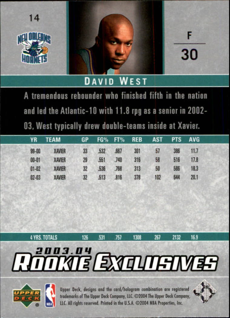 2003-04-Upper-Deck-Rookie-Exclusives-Basketball-Card-Pick thumbnail 24