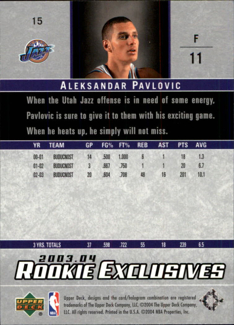2003-04-Upper-Deck-Rookie-Exclusives-Basketball-Card-Pick thumbnail 26