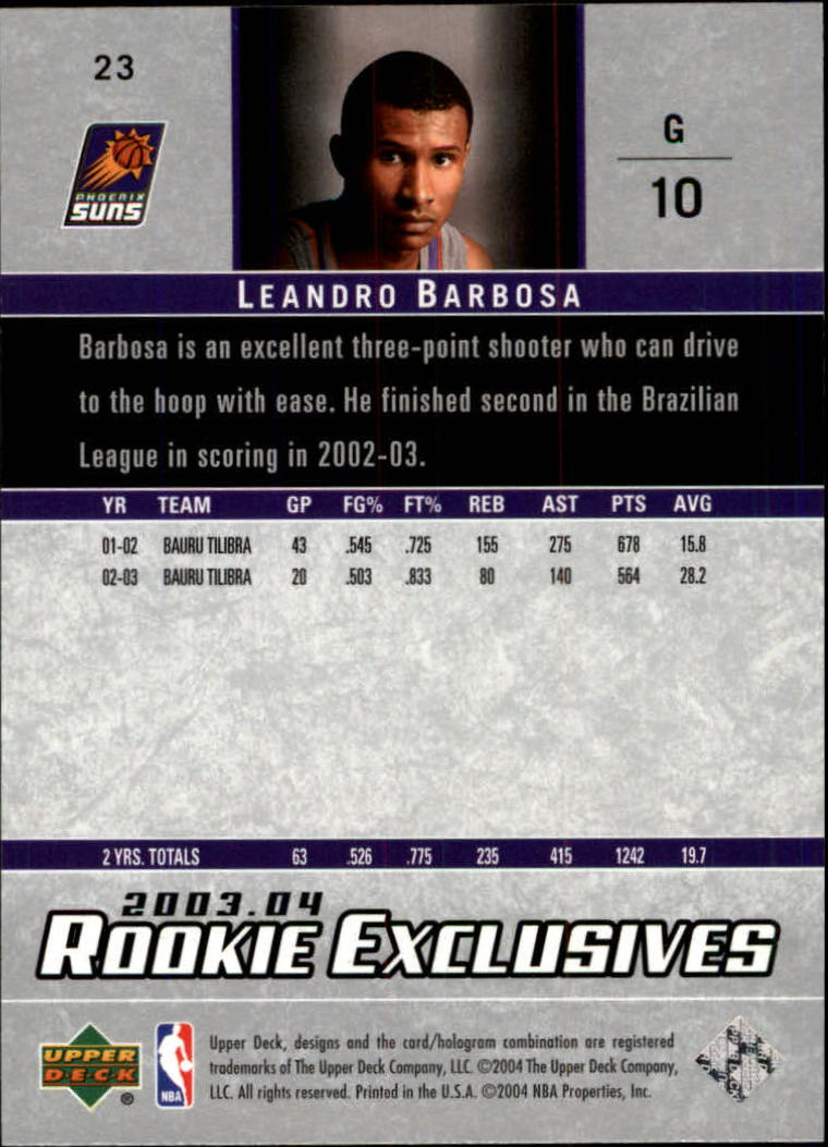 2003-04-Upper-Deck-Rookie-Exclusives-Basketball-Card-Pick thumbnail 42