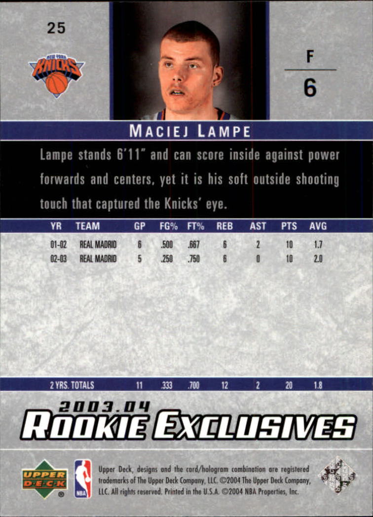 2003-04-Upper-Deck-Rookie-Exclusives-Basketball-Card-Pick thumbnail 46