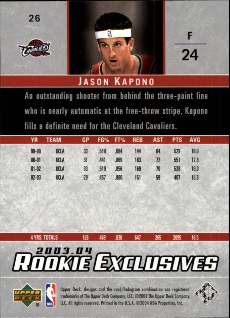 2003-04-Upper-Deck-Rookie-Exclusives-Basketball-Card-Pick thumbnail 48