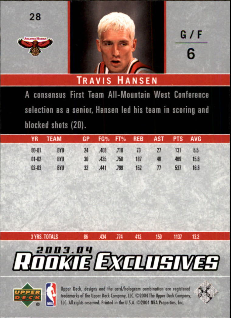 2003-04-Upper-Deck-Rookie-Exclusives-Basketball-Card-Pick thumbnail 52