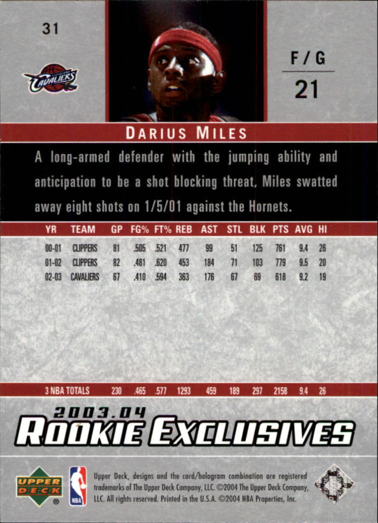 2003-04-Upper-Deck-Rookie-Exclusives-Basketball-Card-Pick thumbnail 58