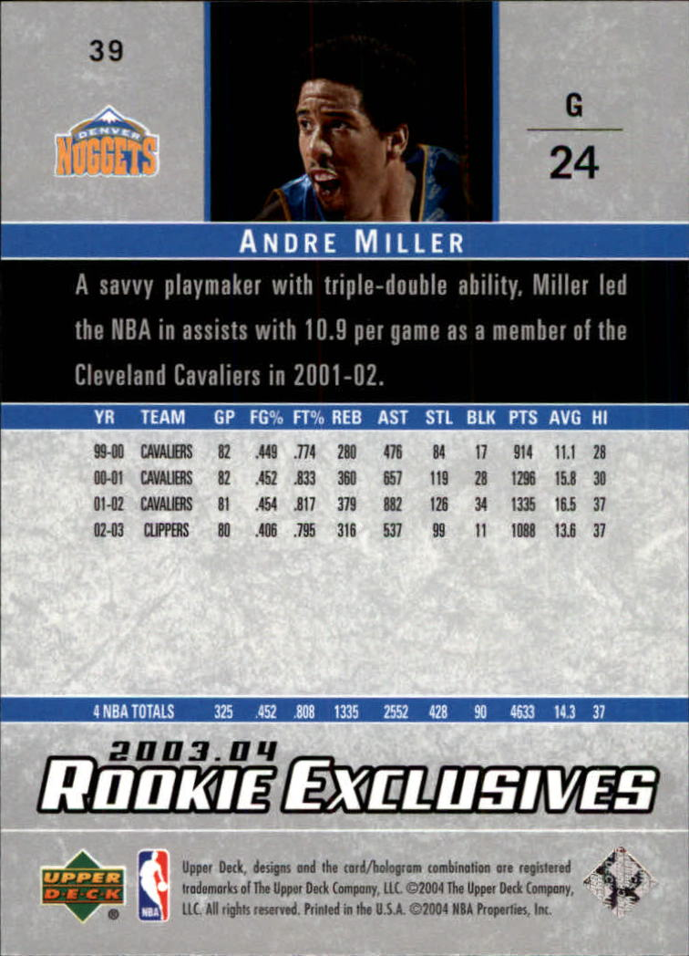 2003-04-Upper-Deck-Rookie-Exclusives-Basketball-Card-Pick thumbnail 70