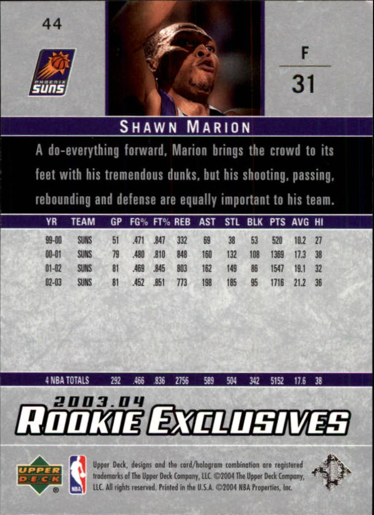 2003-04-Upper-Deck-Rookie-Exclusives-Basketball-Card-Pick thumbnail 80