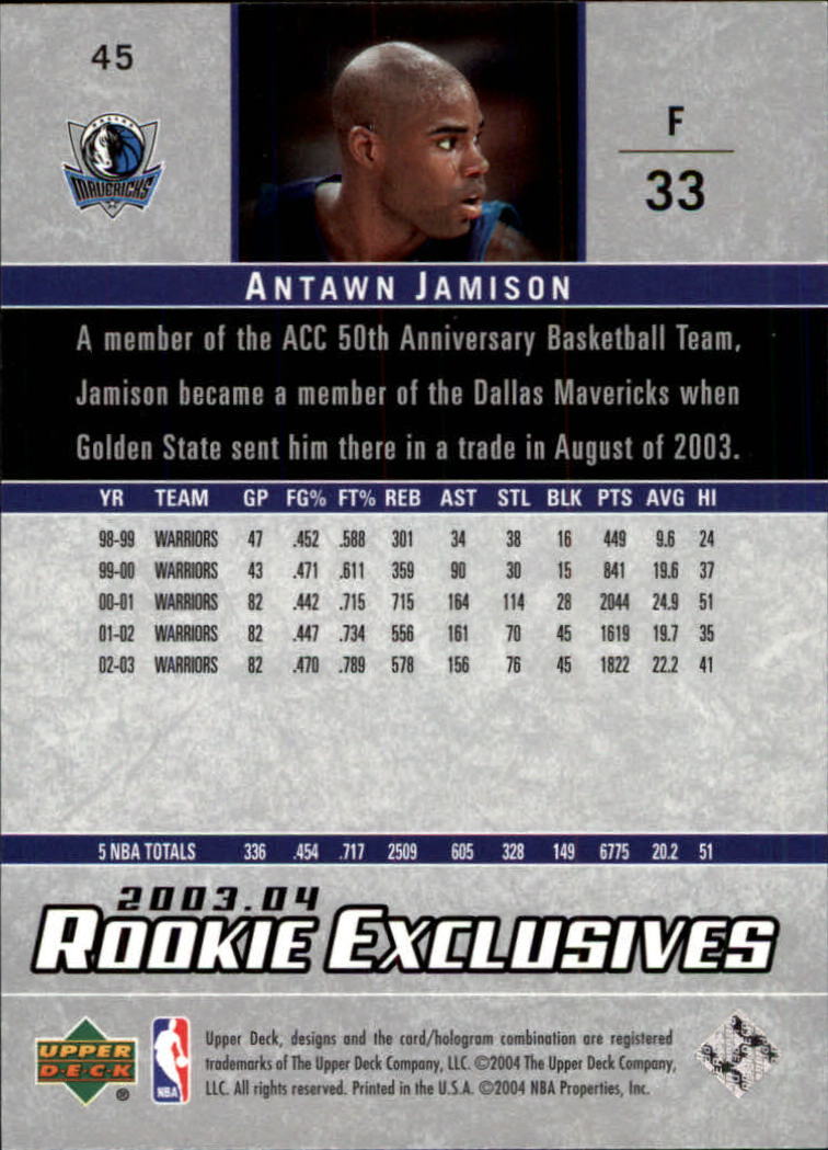 2003-04-Upper-Deck-Rookie-Exclusives-Basketball-Card-Pick thumbnail 82
