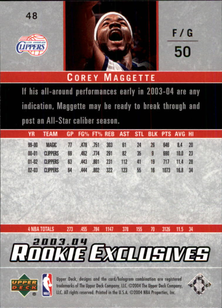 2003-04-Upper-Deck-Rookie-Exclusives-Basketball-Card-Pick thumbnail 88