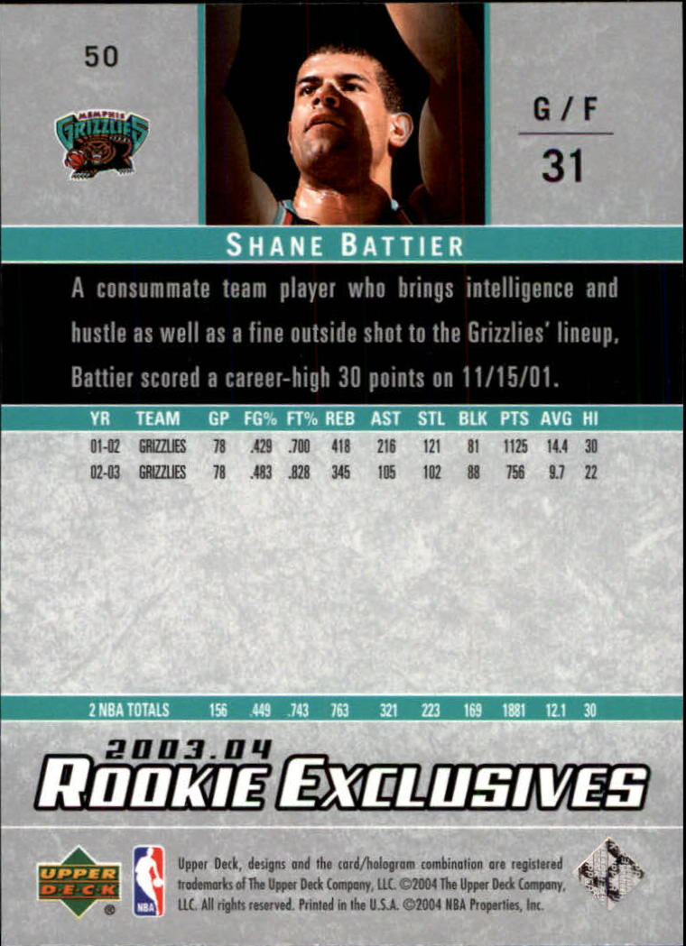 2003-04-Upper-Deck-Rookie-Exclusives-Basketball-Card-Pick thumbnail 92