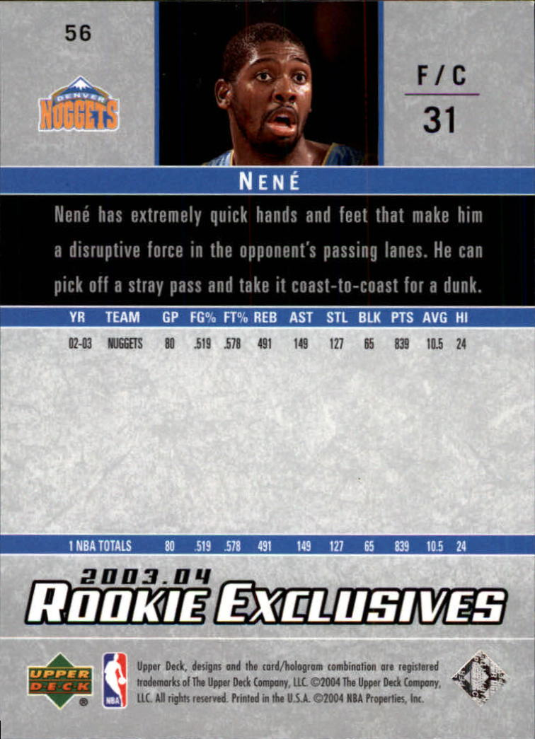 2003-04-Upper-Deck-Rookie-Exclusives-Basketball-Card-Pick thumbnail 104