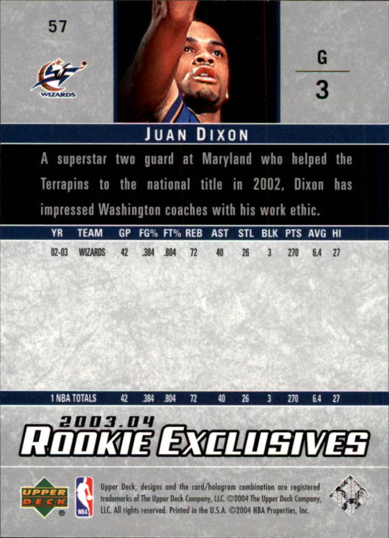 2003-04-Upper-Deck-Rookie-Exclusives-Basketball-Card-Pick thumbnail 106