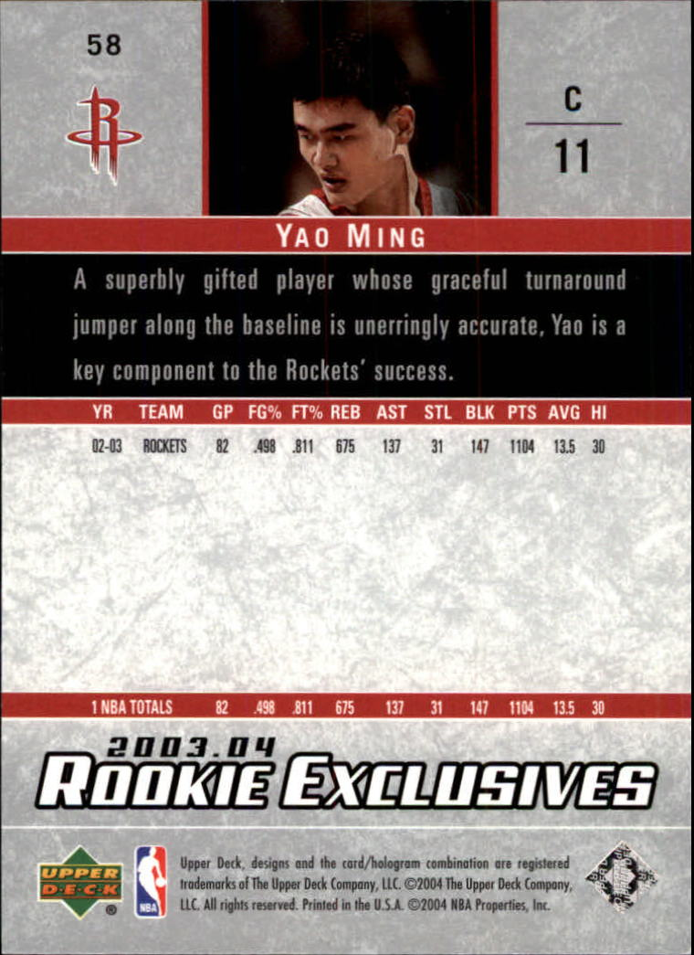 2003-04-Upper-Deck-Rookie-Exclusives-Basketball-Card-Pick thumbnail 108