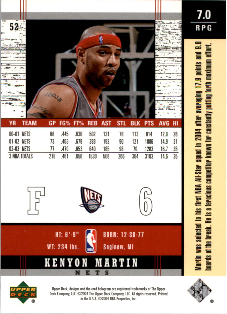 2003-04-Upper-Deck-Legends-Basketball-Cards-Pick-From-List thumbnail 103