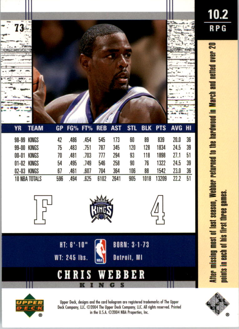 2003-04-Upper-Deck-Legends-Basketball-Cards-Pick-From-List thumbnail 145