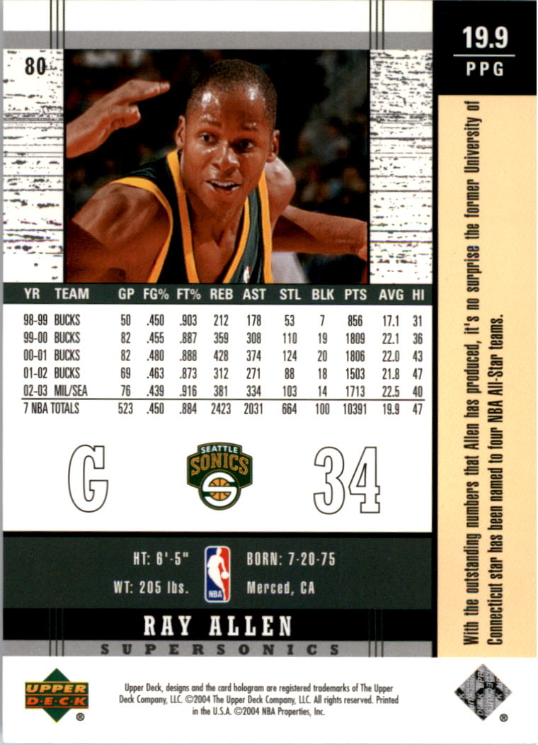2003-04-Upper-Deck-Legends-Basketball-Cards-Pick-From-List thumbnail 159