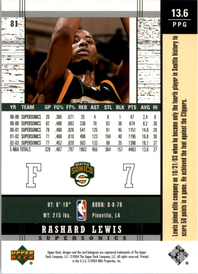 2003-04-Upper-Deck-Legends-Basketball-Cards-Pick-From-List thumbnail 161