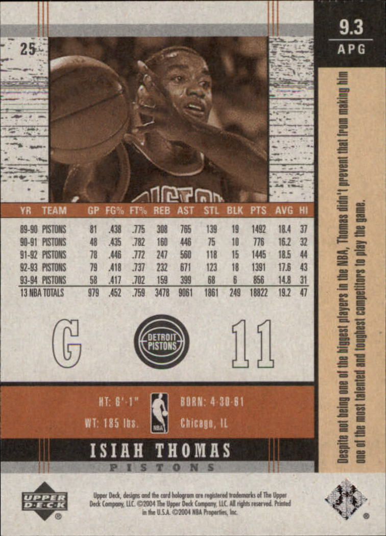 2003-04-Upper-Deck-Legends-Basketball-Cards-Pick-From-List thumbnail 303