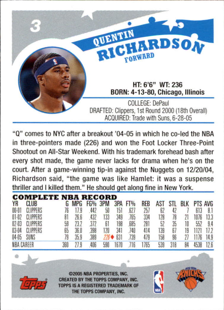 2005-06-Topps-Basketball-Cards-Base-Set-Pick-From-List thumbnail 7