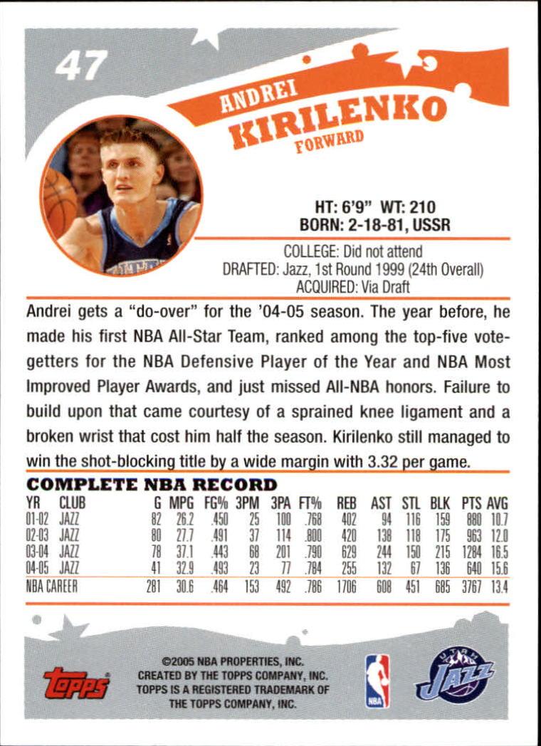 2005-06-Topps-Basketball-Cards-Base-Set-Pick-From-List thumbnail 95