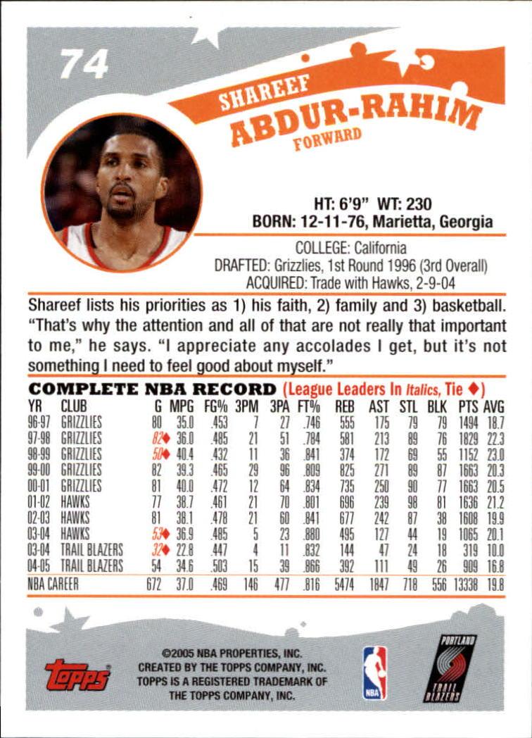 2005-06-Topps-Basketball-Cards-Base-Set-Pick-From-List thumbnail 147