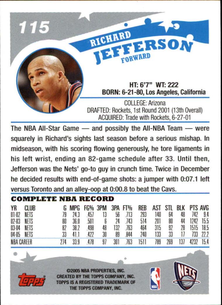 2005-06-Topps-Basketball-Cards-Base-Set-Pick-From-List thumbnail 229