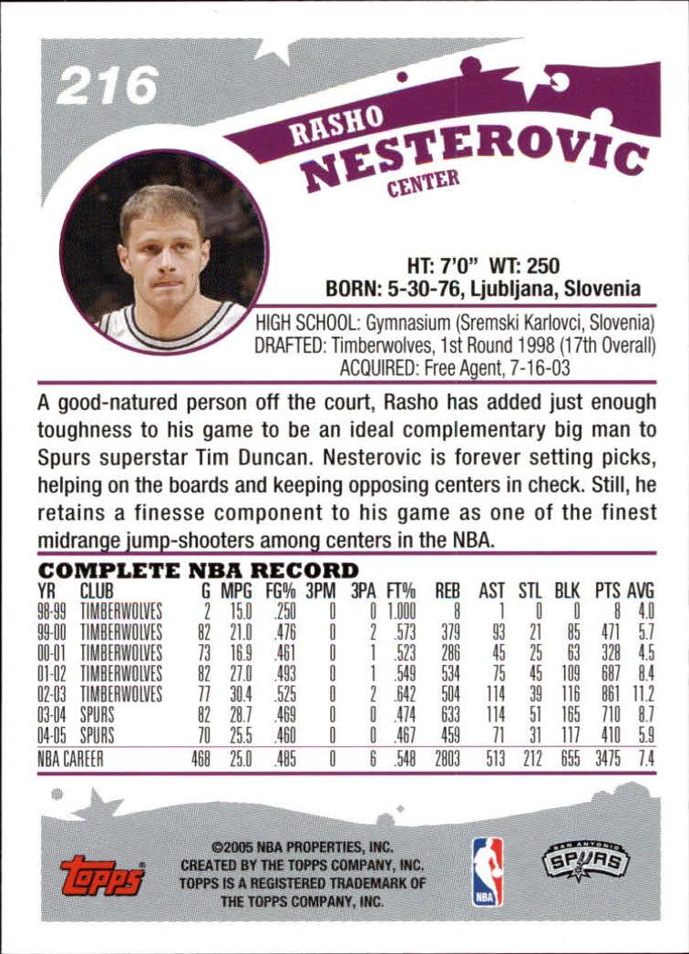 2005-06-Topps-Basketball-Cards-Base-Set-Pick-From-List thumbnail 427