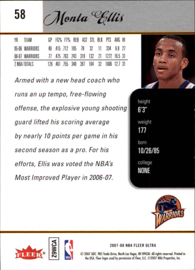 2007-08-Fleer-Ultra-SE-Basketball-Cards-Base-Set-Pick-From-List thumbnail 80