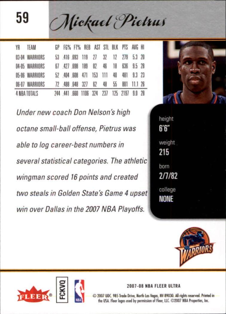 2007-08-Fleer-Ultra-SE-Basketball-Cards-Base-Set-Pick-From-List thumbnail 82