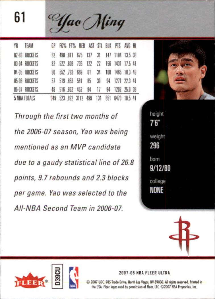 2007-08-Fleer-Ultra-SE-Basketball-Cards-Base-Set-Pick-From-List thumbnail 86