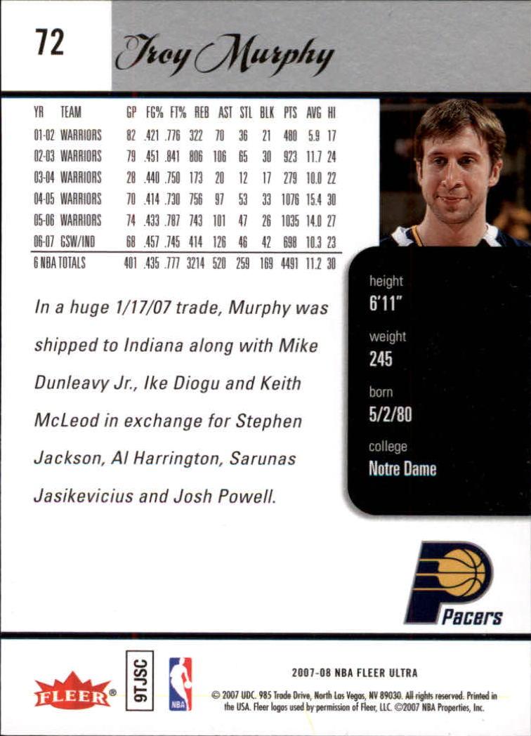 2007-08-Fleer-Ultra-SE-Basketball-Cards-Base-Set-Pick-From-List thumbnail 104