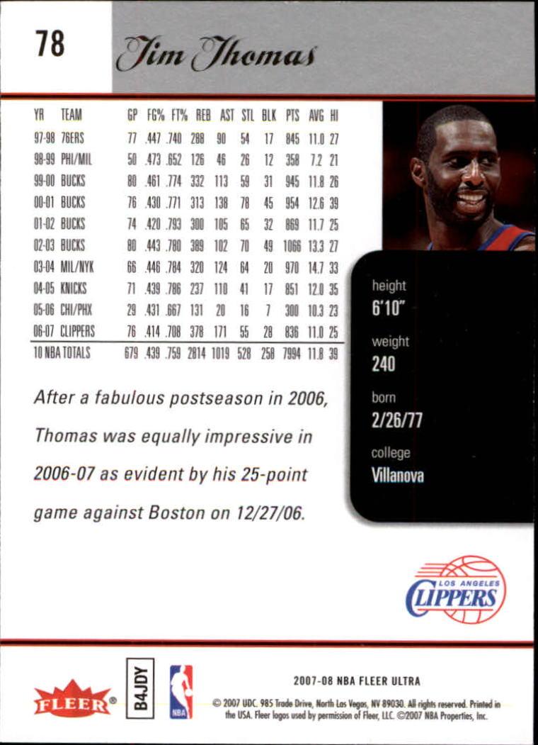 2007-08-Fleer-Ultra-SE-Basketball-Cards-Base-Set-Pick-From-List thumbnail 116