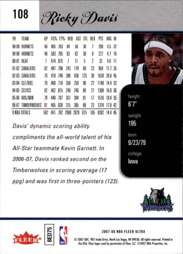 2007-08-Fleer-Ultra-SE-Basketball-Cards-Base-Set-Pick-From-List thumbnail 152