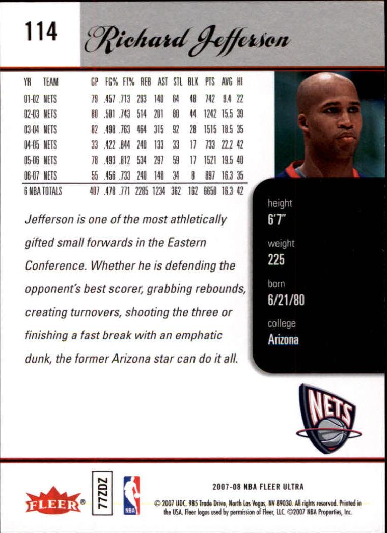 2007-08-Fleer-Ultra-SE-Basketball-Cards-Base-Set-Pick-From-List thumbnail 162