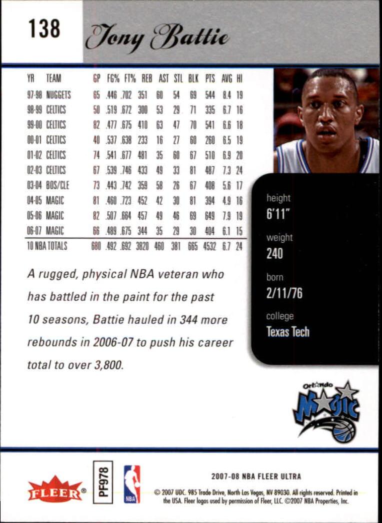 2007-08-Fleer-Ultra-SE-Basketball-Cards-Base-Set-Pick-From-List thumbnail 200