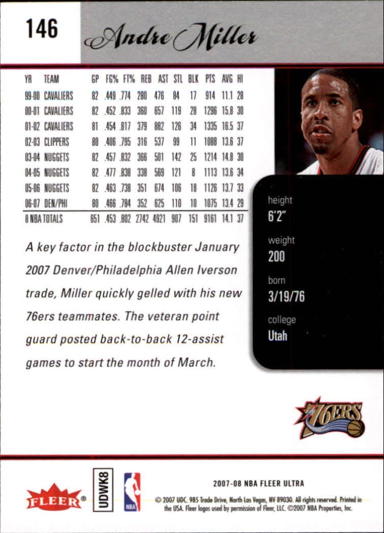 2007-08-Fleer-Ultra-SE-Basketball-Cards-Base-Set-Pick-From-List thumbnail 214
