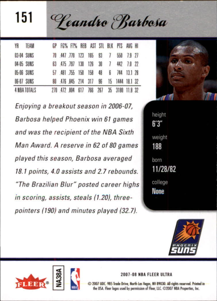 2007-08-Fleer-Ultra-SE-Basketball-Cards-Base-Set-Pick-From-List thumbnail 220
