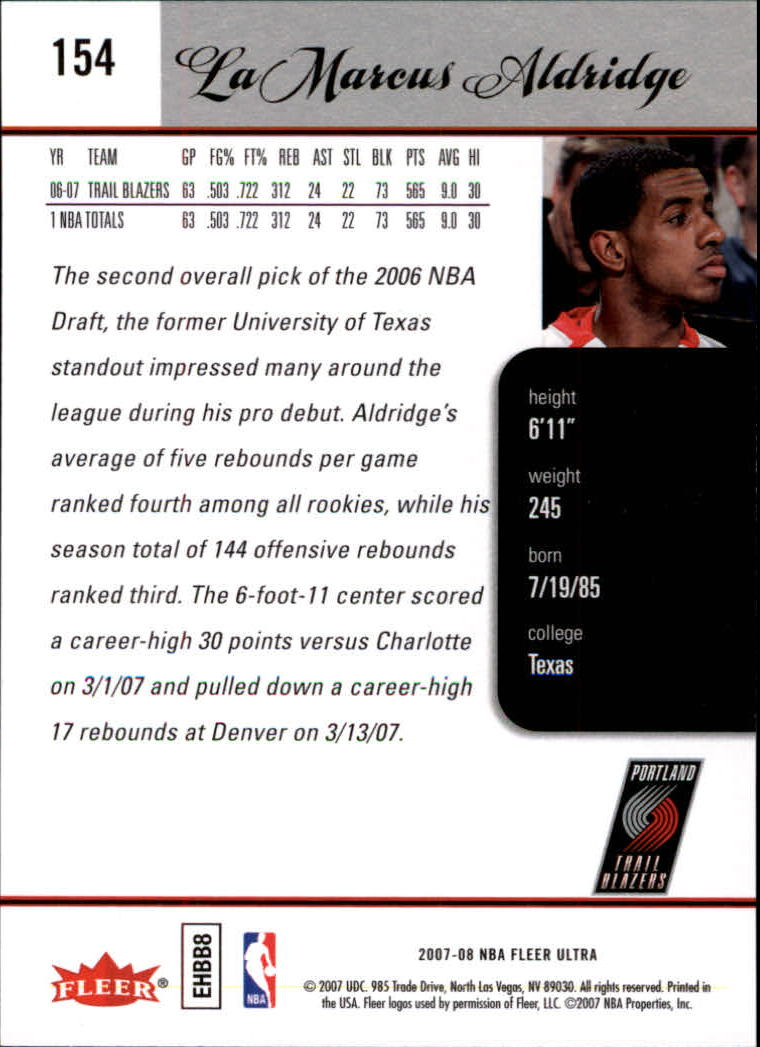 2007-08-Fleer-Ultra-SE-Basketball-Cards-Base-Set-Pick-From-List thumbnail 226
