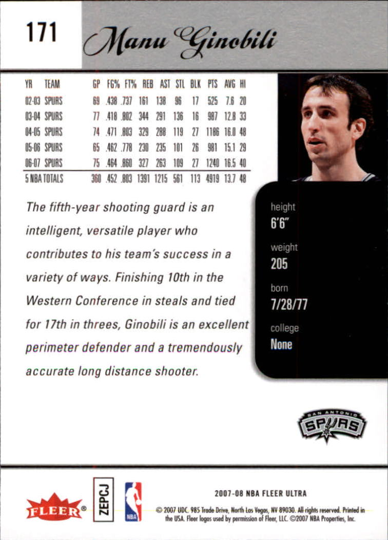 2007-08-Fleer-Ultra-SE-Basketball-Cards-Base-Set-Pick-From-List thumbnail 250
