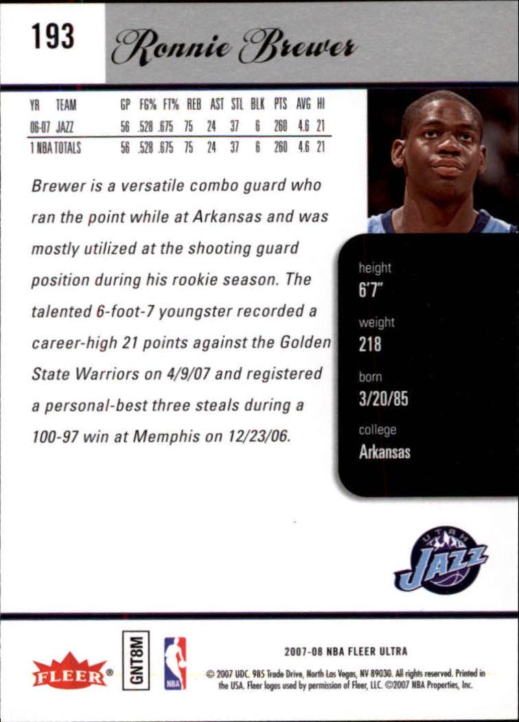 2007-08-Fleer-Ultra-SE-Basketball-Cards-Base-Set-Pick-From-List thumbnail 282