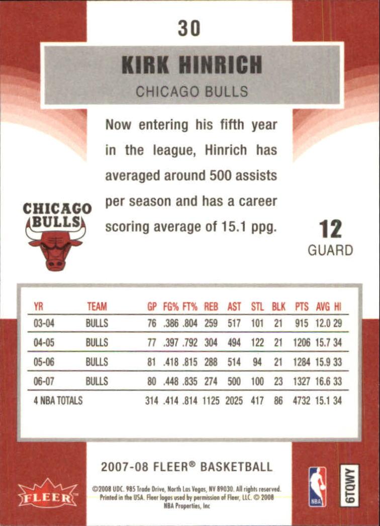 2007-08-Fleer-Basketball-Cards-Base-Set-Pick-From-List thumbnail 57