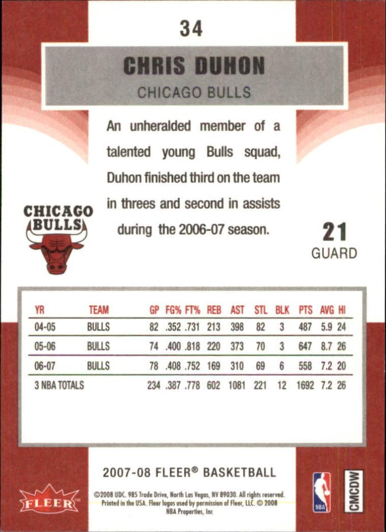 2007-08-Fleer-Basketball-Cards-Base-Set-Pick-From-List thumbnail 65