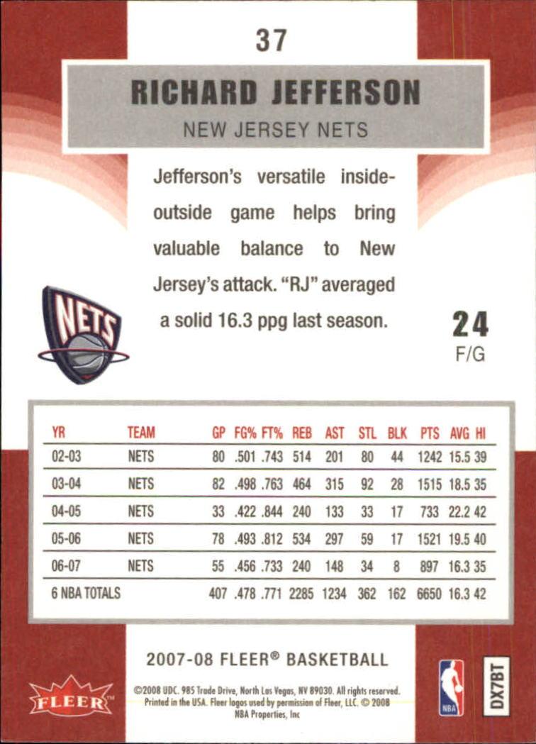 2007-08-Fleer-Basketball-Cards-Base-Set-Pick-From-List thumbnail 71