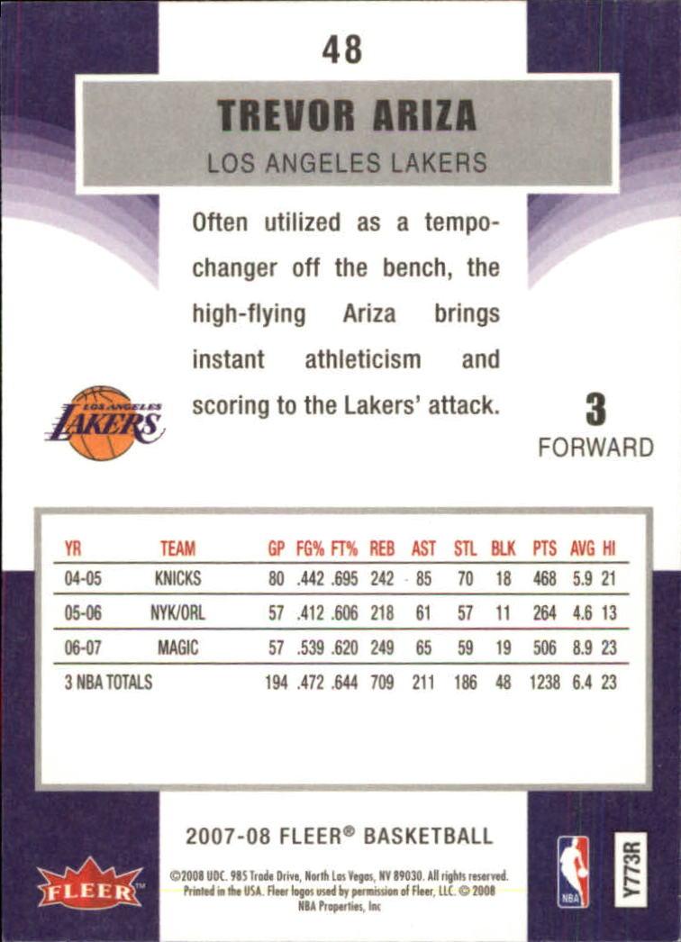 2007-08-Fleer-Basketball-Cards-Base-Set-Pick-From-List thumbnail 93