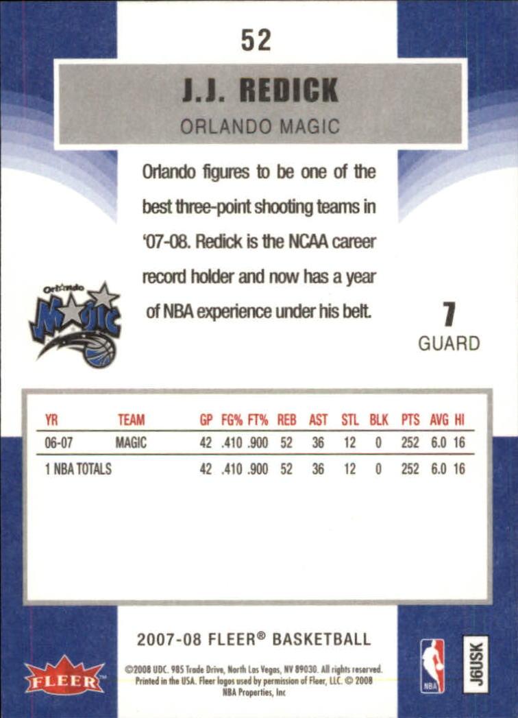 2007-08-Fleer-Basketball-Cards-Base-Set-Pick-From-List thumbnail 101