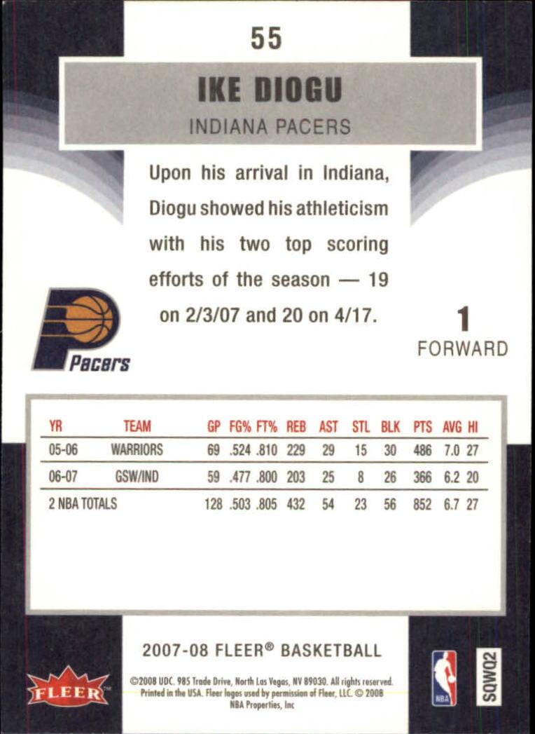 2007-08-Fleer-Basketball-Cards-Base-Set-Pick-From-List thumbnail 105