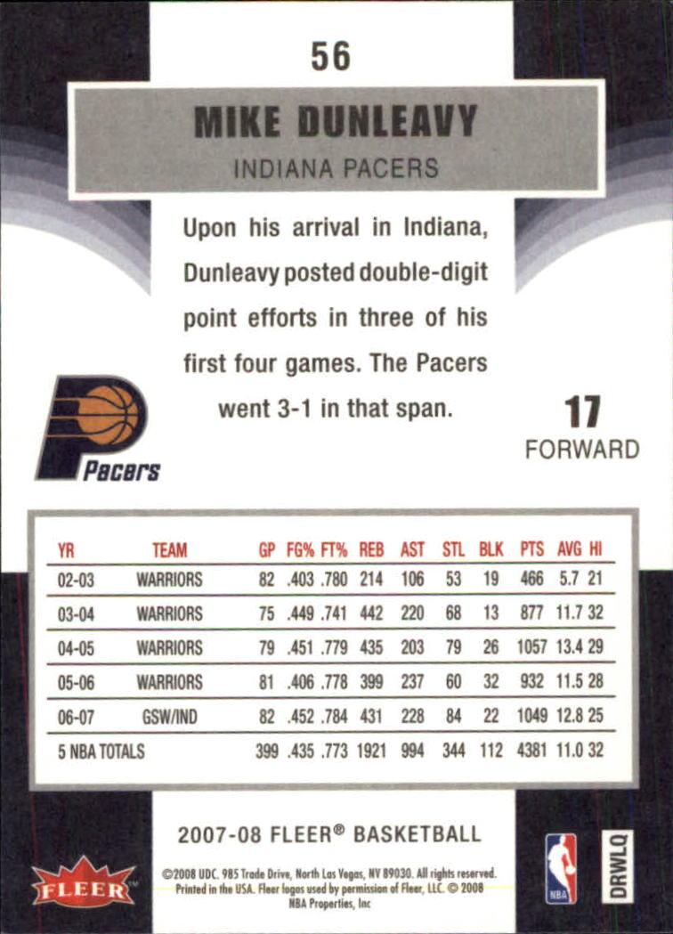 2007-08-Fleer-Basketball-Cards-Base-Set-Pick-From-List thumbnail 107