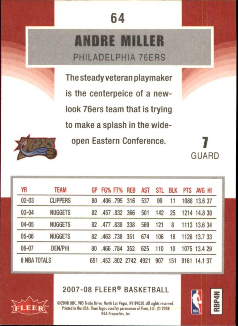 2007-08-Fleer-Basketball-Cards-Base-Set-Pick-From-List thumbnail 123