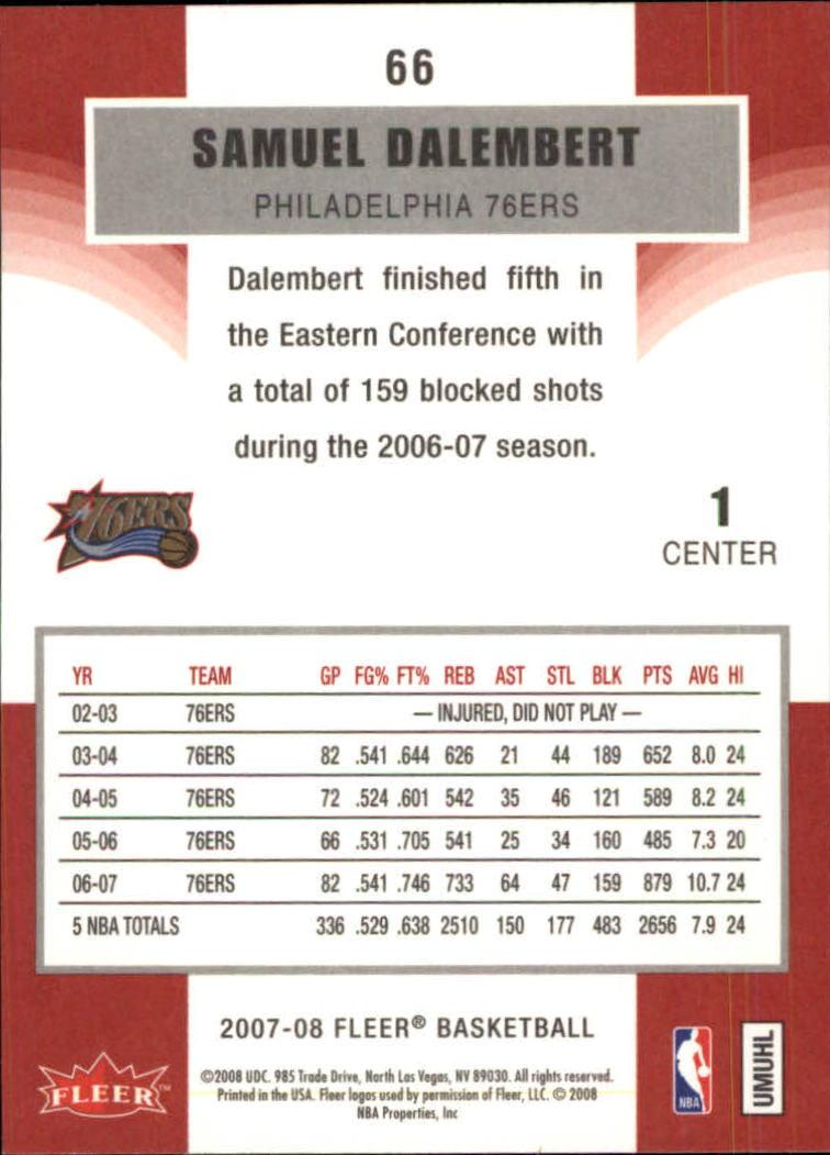 2007-08-Fleer-Basketball-Cards-Base-Set-Pick-From-List thumbnail 127