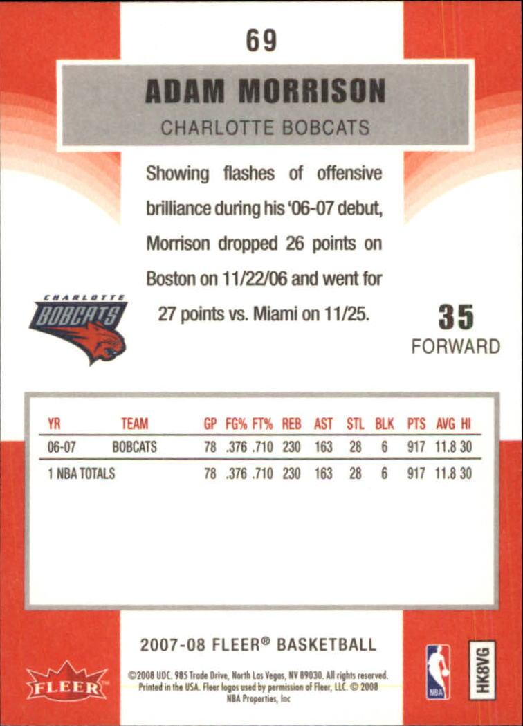 2007-08-Fleer-Basketball-Cards-Base-Set-Pick-From-List thumbnail 133