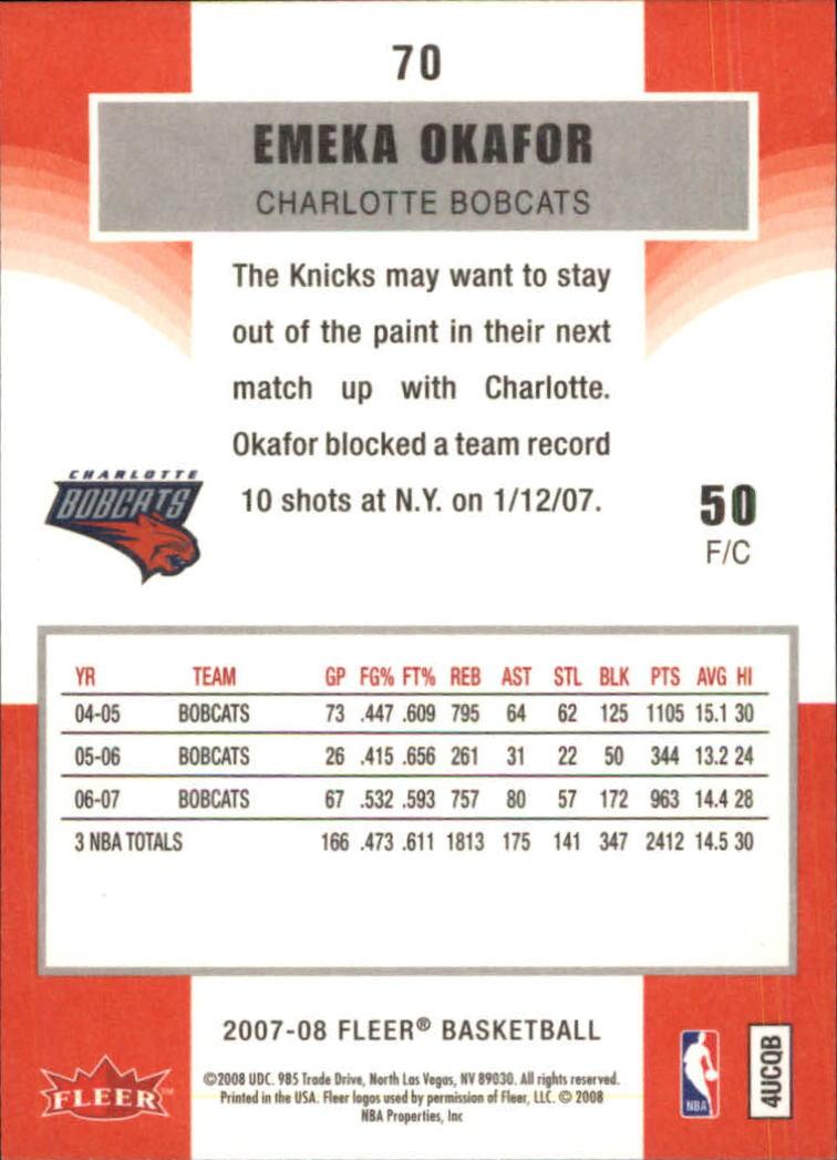 2007-08-Fleer-Basketball-Cards-Base-Set-Pick-From-List thumbnail 135