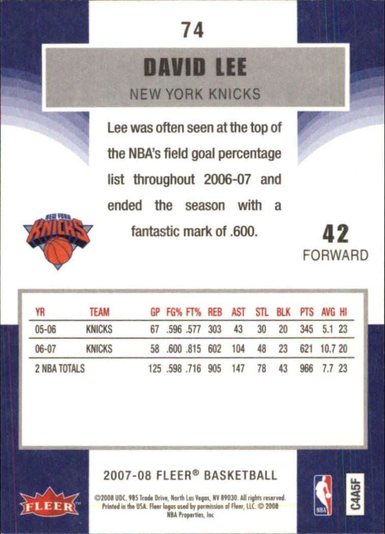 2007-08-Fleer-Basketball-Cards-Base-Set-Pick-From-List thumbnail 143